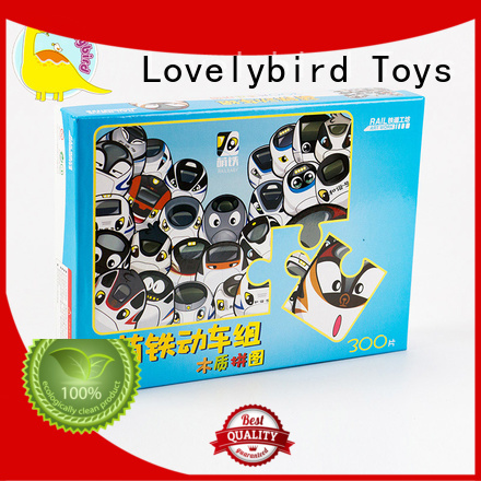Lovelybird Toys simple wooden puzzles with poster for entertainment