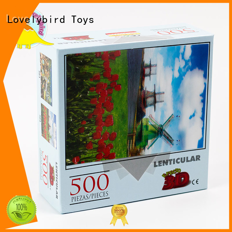 embossing 500 piece jigsaw puzzles maker for kids Lovelybird Toys