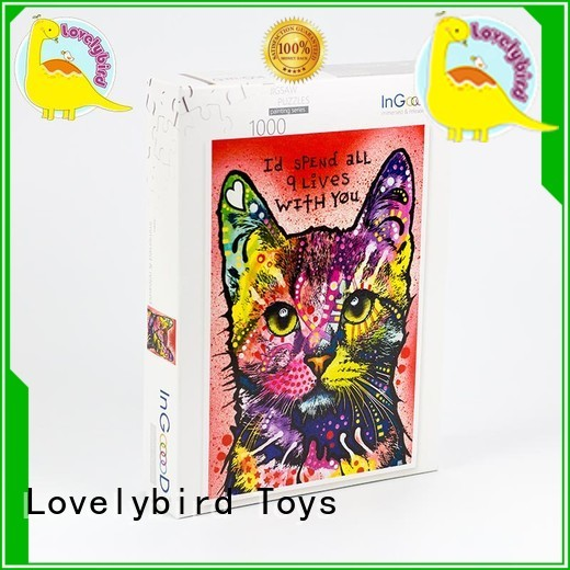Lovelybird Toys disney wooden puzzles with frame for entertainment