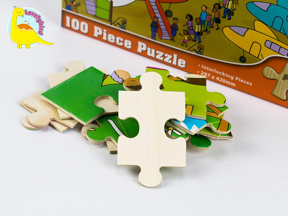 wooden puzzles for toddlers with poster for adult Lovelybird Toys-5