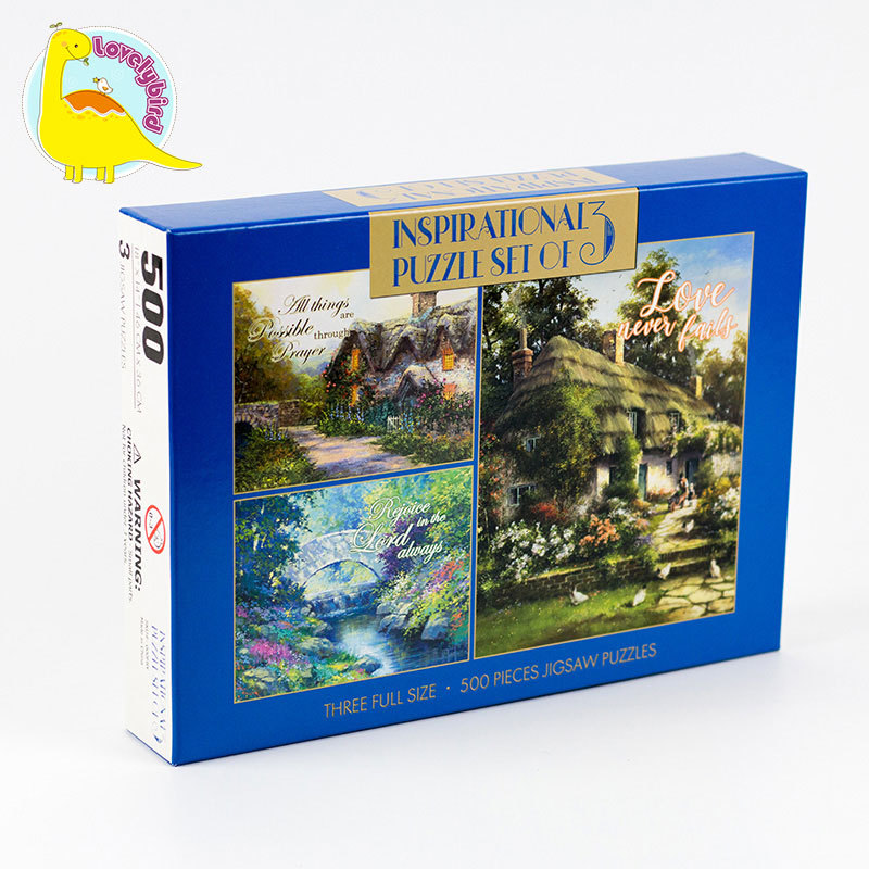 500pcPaper Toy Puzzle for Kids