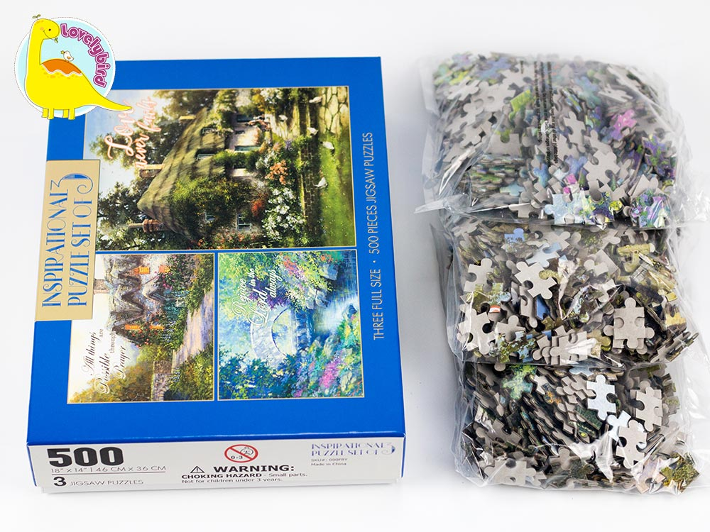 round 500 jigsaw puzzles wholesale for entertainment-4