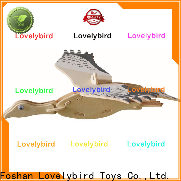 fast delivery 3d wooden animal puzzle supply for present