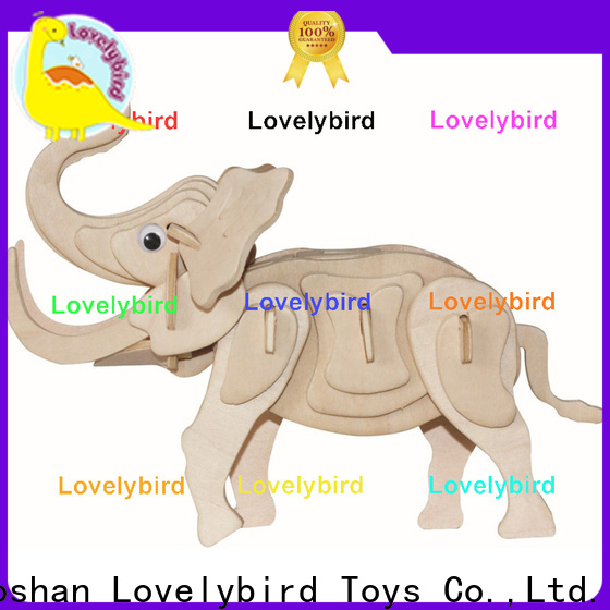 Lovelybird Toys beautiful 3d wooden animal puzzle suppliers for sale