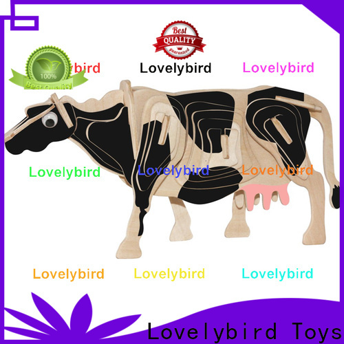 beautiful 3d wooden animal puzzle supply for present