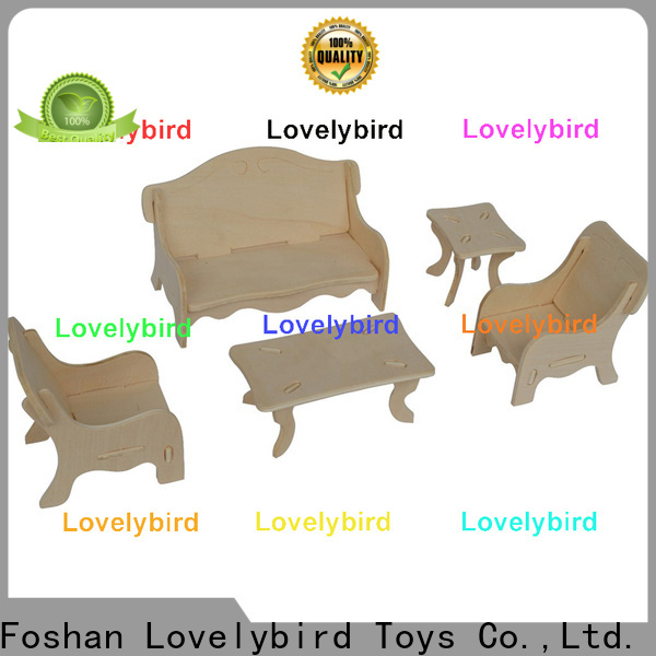 new 3d wooden puzzle dollhouse furniture suppliers for sale