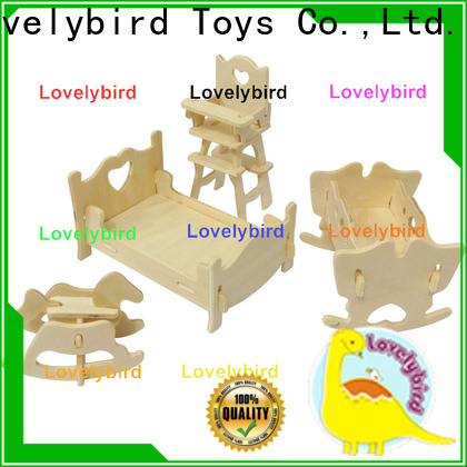 Lovelybird Toys 3d wooden puzzle dollhouse furniture factory for business