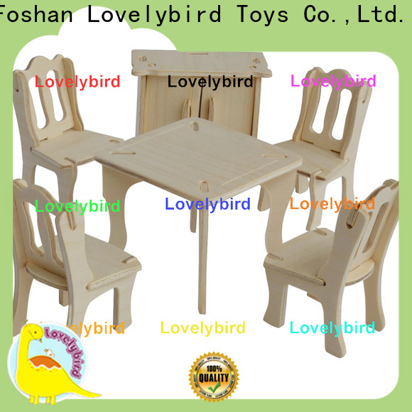 high-quality 3d wooden puzzle dollhouse furniture suppliers for sale