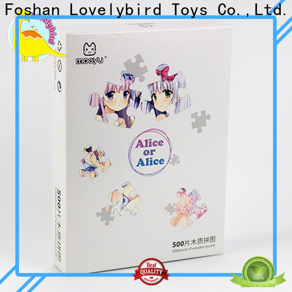 Lovelybird Toys custom wooden puzzles for kids with poster for entertainment