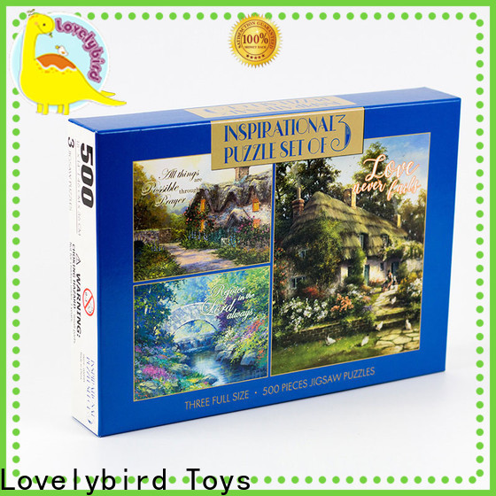 Lovelybird Toys 500 jigsaw puzzles supply for adult