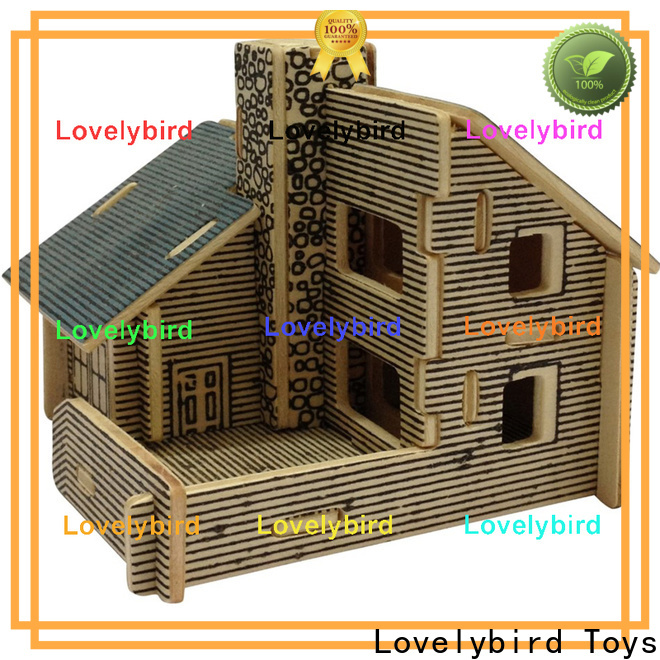 Lovelybird Toys 3d wooden house puzzles supply for adults