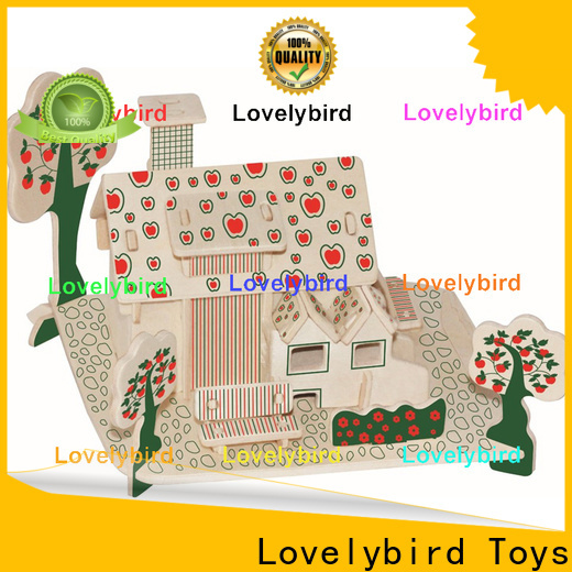 top 3d wooden house puzzles manufacturers for present