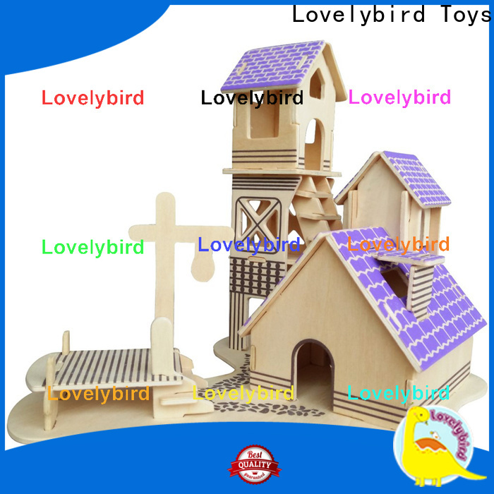 Lovelybird Toys custom 3d wooden puzzle house manufacturers for present