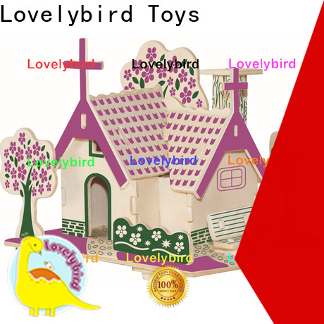 Lovelybird Toys 3d wooden house puzzles suppliers for sale