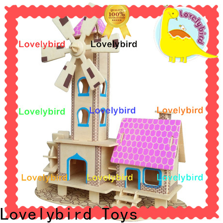 Lovelybird Toys top 3d wooden puzzle house factory for present
