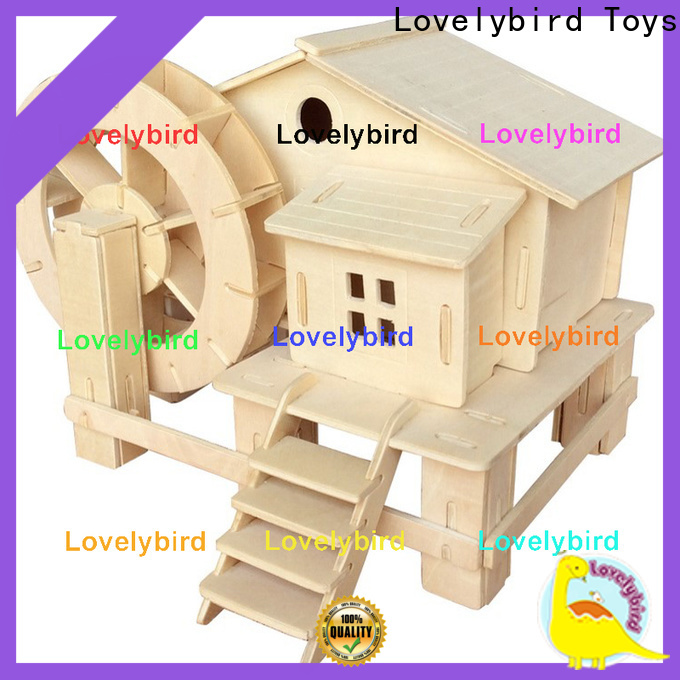 Lovelybird Toys wholesale 3d wooden puzzle house supply for kids