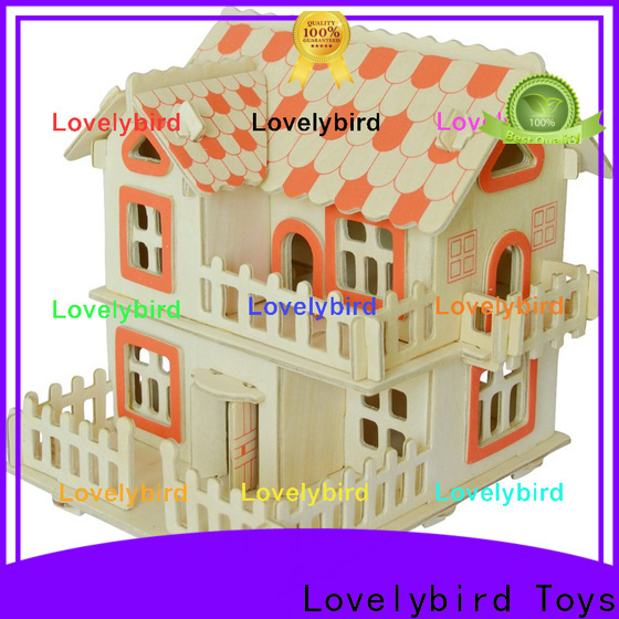 high-quality 3d wooden house puzzles supply for sale