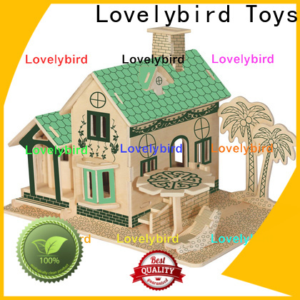 Lovelybird Toys 3d wooden house puzzles company for sale