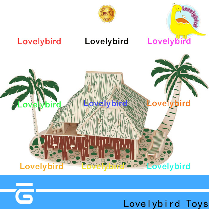Lovelybird Toys 3d wooden puzzle house manufacturers for present