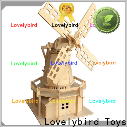 Lovelybird Toys 3d wooden house puzzles supply for business