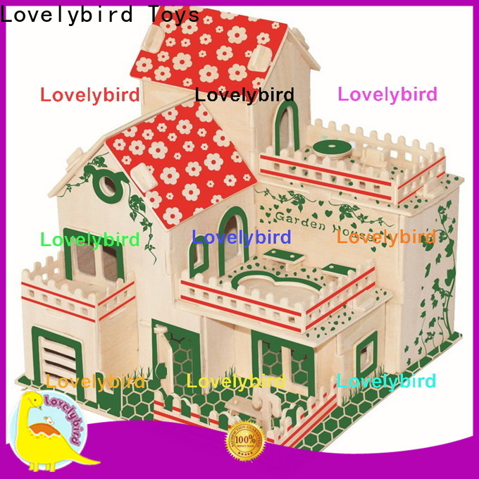 good selling 3d wooden puzzle house company for kids