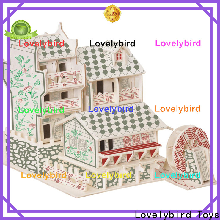 Lovelybird Toys 3d wooden house puzzles manufacturers for present