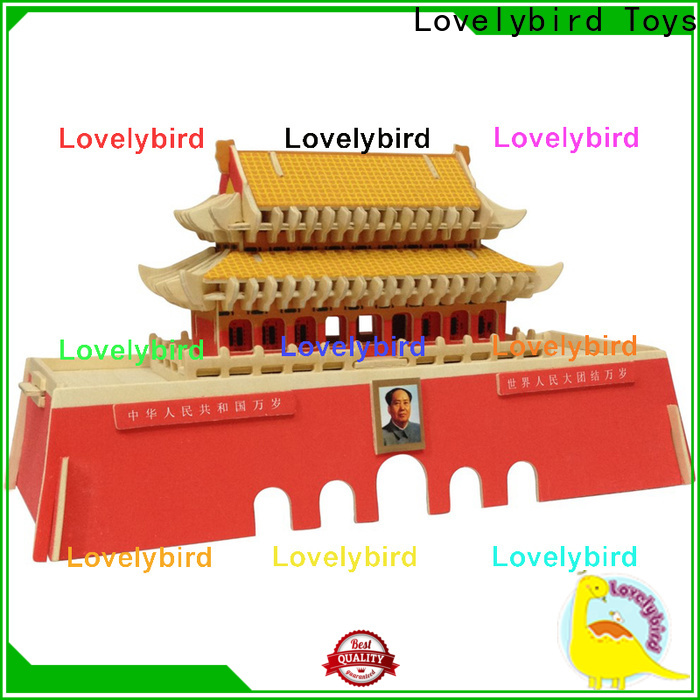 Lovelybird Toys 3d wooden house puzzles company for present