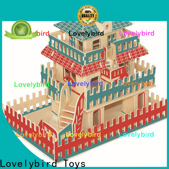 Lovelybird Toys high-quality 3d wooden house puzzles manufacturers for adults