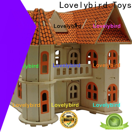custom 3d wooden puzzle house manufacturers for sale