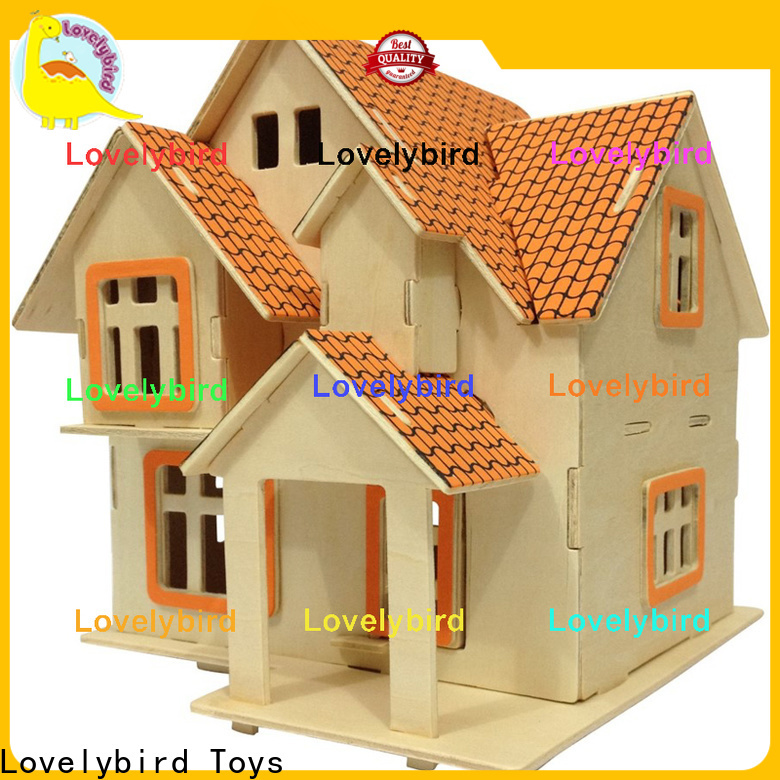 custom 3d wooden house puzzles supply for adults