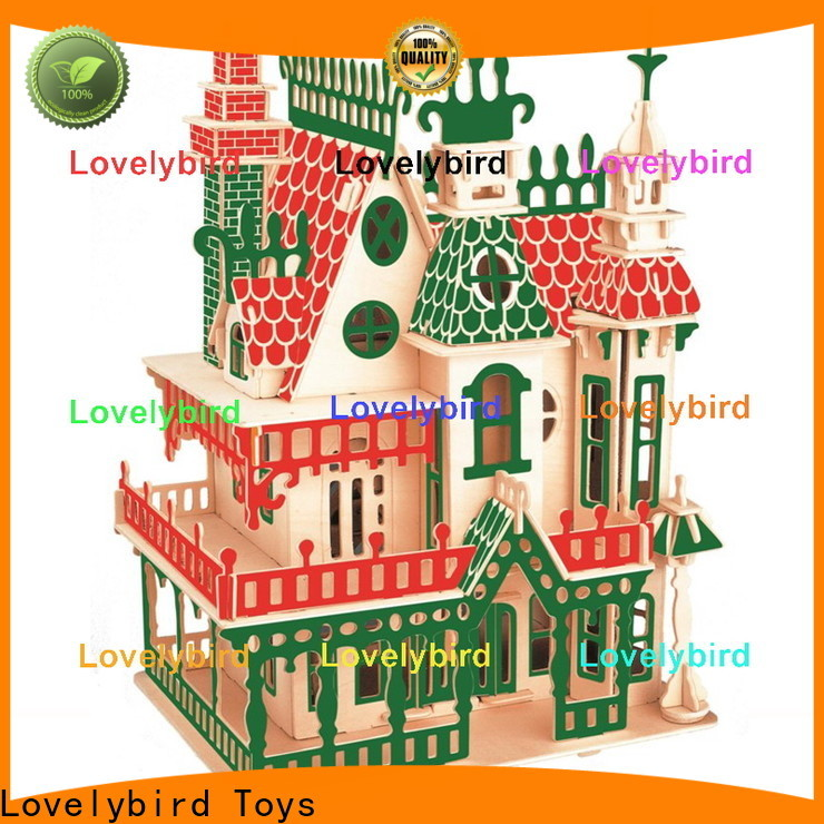 Lovelybird Toys top 3d wooden puzzle house supply for business