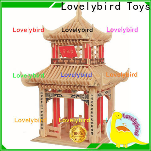 Lovelybird Toys interesting 3d wooden house puzzles factory for sale