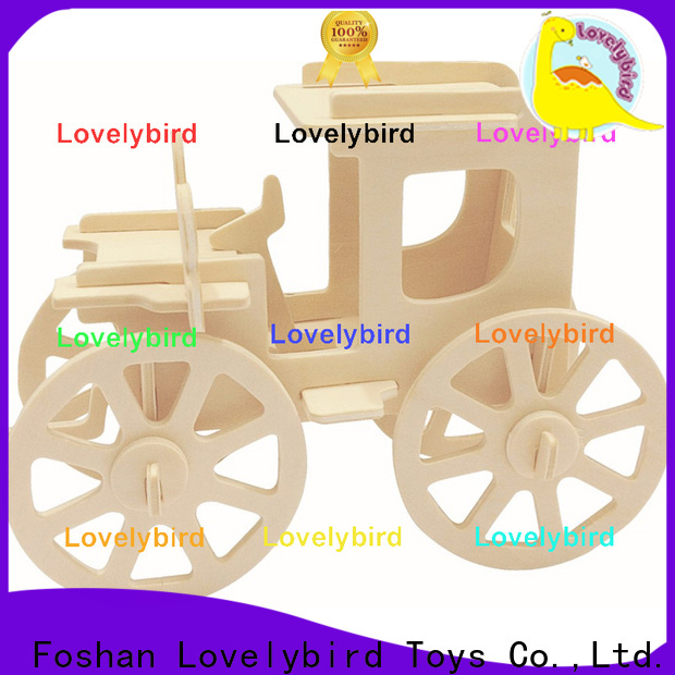 Lovelybird Toys 3d wooden puzzle car supply for kids