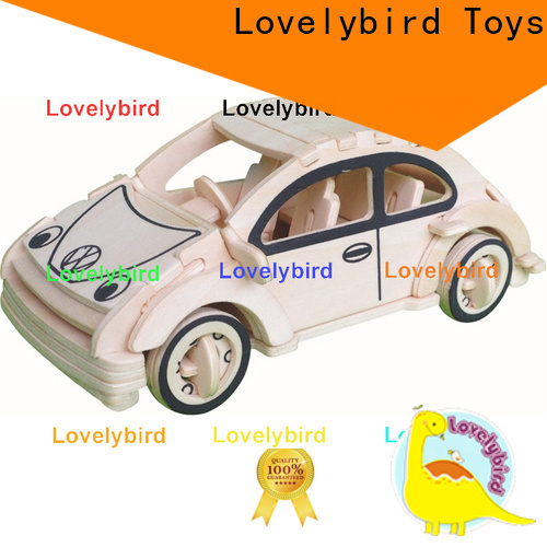 Lovelybird Toys 3d wooden car puzzle factory for sale