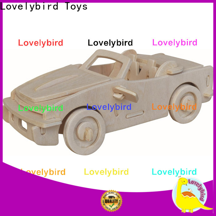 wholesale 3d wooden car puzzle manufacturers for adults