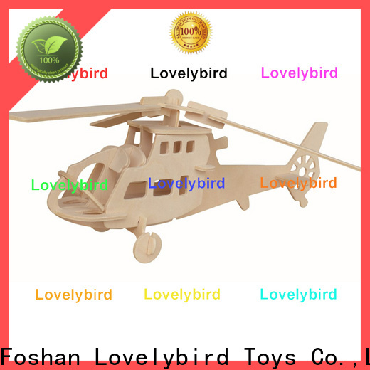 Lovelybird Toys new 3d airplane puzzle factory for kids