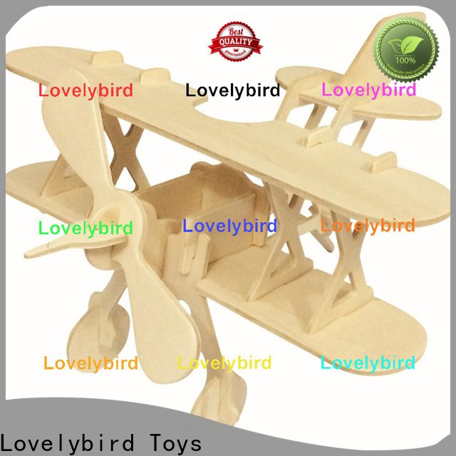 Lovelybird Toys 3d wooden car puzzle suppliers for present