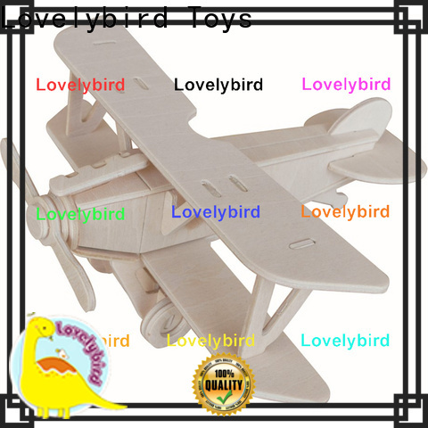 Lovelybird Toys 3d airplane puzzle suppliers for business