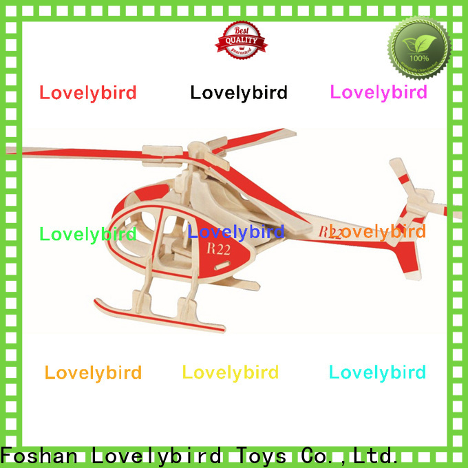 Lovelybird Toys custom 3d wooden puzzle car factory for adults