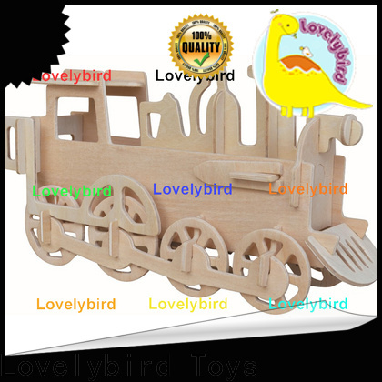 Lovelybird Toys 3d wooden car puzzle company for kids