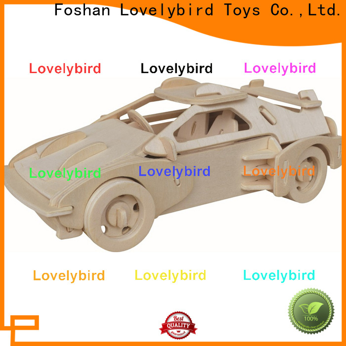 Lovelybird Toys custom 3d wooden car puzzle supply for business