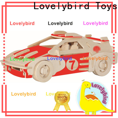 Lovelybird Toys 3d wooden puzzle ship company for kids