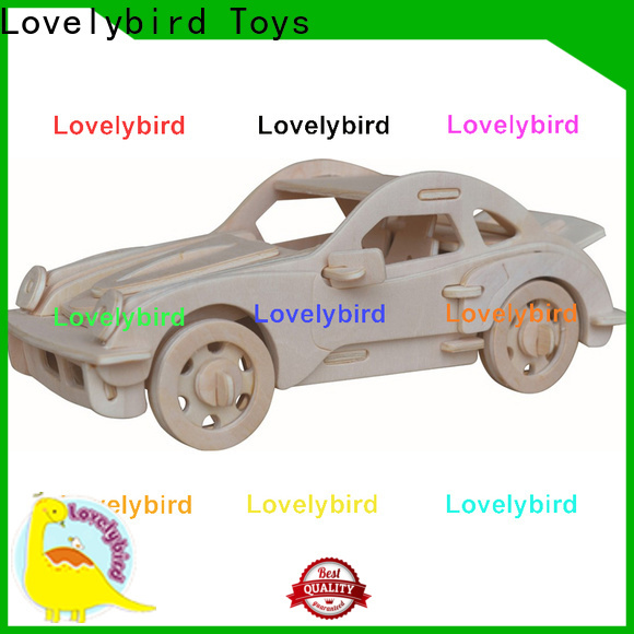 Lovelybird Toys 3d wooden puzzle car suppliers for entertainment