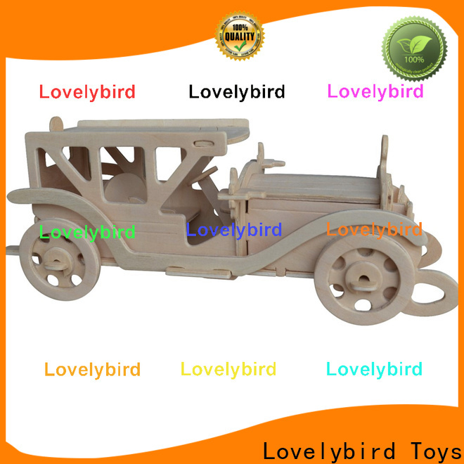 Lovelybird Toys wholesale 3d wooden puzzle car suppliers for sale