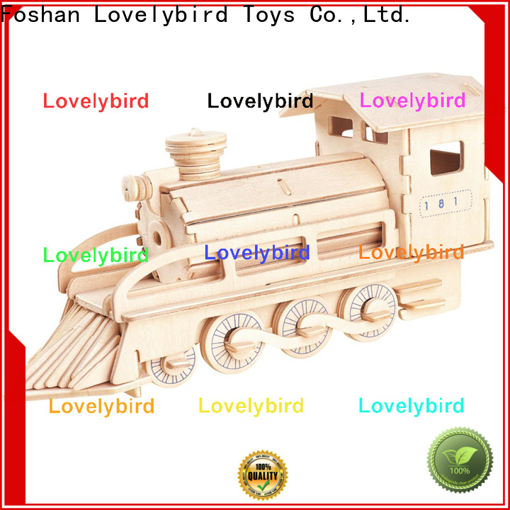 Lovelybird Toys 3d wooden puzzle car manufacturers for business
