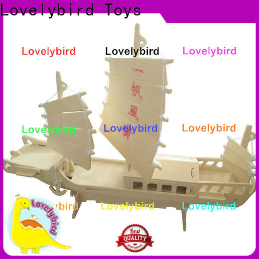 Lovelybird Toys latest 3d wooden puzzle car factory for present