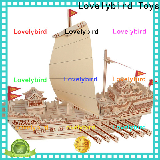 Lovelybird Toys high-quality 3d airplane puzzle manufacturers for sale