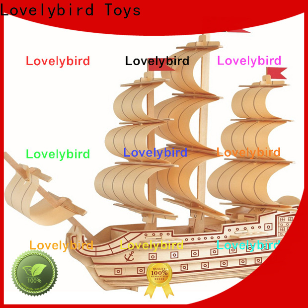 Lovelybird Toys best 3d wooden puzzle ship supply for sale