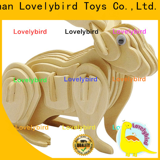 Lovelybird Toys fast delivery 3d wooden puzzle animals factory for present