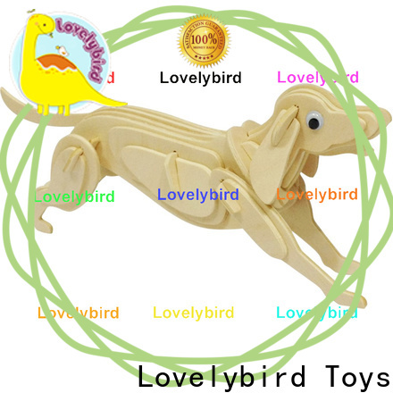 Lovelybird Toys wooden 3d animal puzzles manufacturers for present